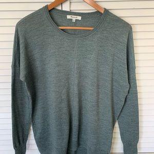 Madewell green sweater